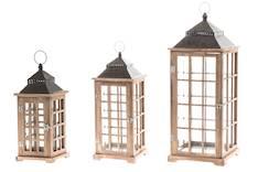 Lyhty Wooden 23x23x55cm - Kynttilät, lyhdyt ja tarvikkeet - 149270 - 1