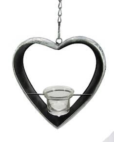 Sydäntuikkuteline roikkuva 18cm - Kynttilät, lyhdyt ja tarvikkeet - 149860 - 1