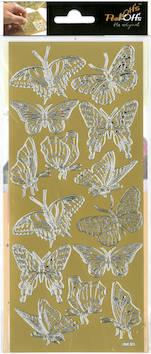 Ääriviivatarra isot perhoset - Tarrat ja tarrakirjat - 136020 - 1