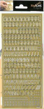 Ääriviivatarra kirjaimet - Tarrat ja tarrakirjat - 136010 - 1