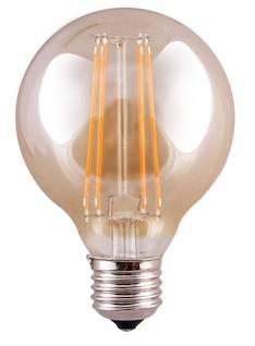 Airam led 5,0w e27 globe/pop-80. kirkas filam. 470lm, 10 000h, - Varalamput ja loisteputket - 139450 - 1
