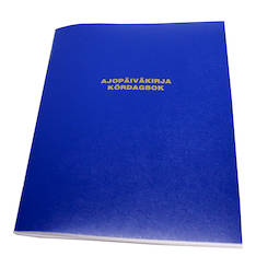 Ajopäiväkirja A6/184 KARISTO - Lomakkeet - 121010 - 1