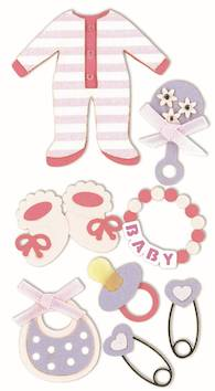 Baby girl 1 -tarra-arkki - Askartelutarvikkeet - 137290 - 1