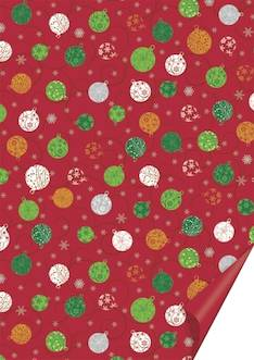 Christmas baubles red kartonki 50 x 70 cm 300 g - Askartelutarvikkeet - 143620 - 1