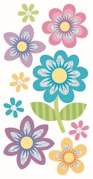 Flowers, large tarra-arkki - Askartelutarvikkeet - 137280 - 1