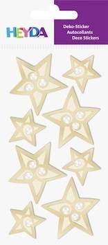 Golden stars tarra-arkki - Tarrat ja tarrakirjat - 143610 - 1