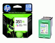 HP 351XL CB338EE mustesuihku - HP mustesuihkuväripatruunat - 117590 - 1
