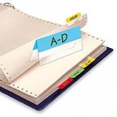 Hakemistokieleke 3L 12x40mm 2-osainen - Etiketit-, tulostuskortit ja tarrakalvot - 131910 - 1