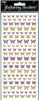 Kimalletarra perhoset - Tarrat ja tarrakirjat - 135980 - 1