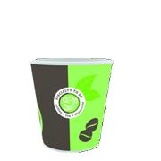 Espressokuppi 100ml HUHTAMÄKI BioWare - Kertakäyttöastiat - 153390 - 1