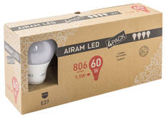 Kynttilälamppu Led E27 806lumen AIRAM - Varalamput ja loisteputket - 150770 - 1