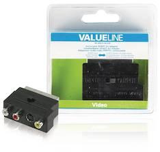 Kytkettävä SCART AV-sovitin Valueline - Kaapelit ja kaapelikourut, jatkojohdot - 146370 - 1