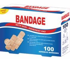 Laastari Bandage 100kpl/pkt - Muut ensiaputuotteet - 152510 - 1