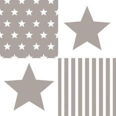 Lautasliina 33x33cm star stripes sand fs - Servietit ja lautasliinat - 143820 - 1