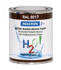 Maali H2O! 1L RAL8017 MASTON - Maalaustarvikkeet - 146900 - 1