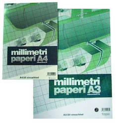 Millimetrilehtiö A4/20 PAPERIPISTE - Avo- ja muut lehtiöt - 102020 - 1