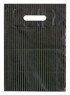 Muovikassi mustaraita 25x35cm 50mic - Muovikassit ja pussit - 104820 - 1
