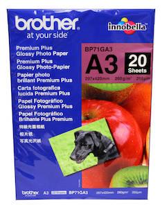 Photopaperi A3 260g BROTHER Premium - Valokuvapaperit - 119050 - 1