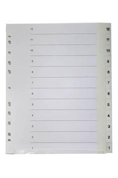Rekisteri 12-1 A4 muovi - Rekisterisarjat,muoviset - 127750 - 1