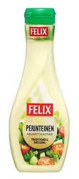 Salaatinkastike Felix 375g - Sokerit ja muut makeutusaineet - 133970 - 1