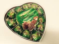Suklaakonvehti Pralines Green Heart 165g - Makeiset - 144090 - 1