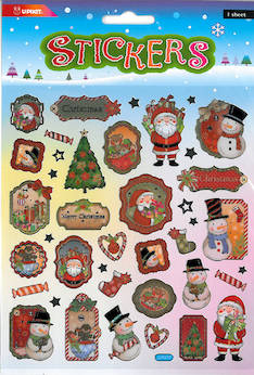 Tarra-arkki jouluaihe - Tarrat ja tarrakirjat - 148950 - 1