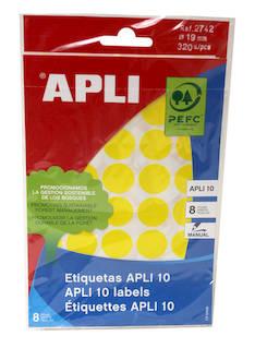 Tarraetiketti 19mm APLI pyöreä - Etiketit-, tulostuskortit ja tarrakalvot - 128300 - 1