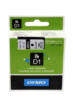 Tarranauha DYMO 12mmx7m 45013 - Tarra- ja kohokirjoitinteipit Dymo - 104060 - 1