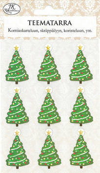 Teematarra joulukuusi - Tarrat ja tarrakirjat - 153490 - 1