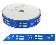 Suomi 100 Finland nauha 18mm/20m - Jouluun valot,koristeet,tekstiilit - 153750 - 1