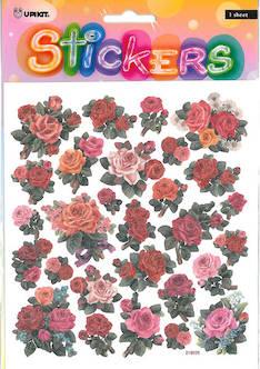 Tarra-arkki ruusut glitter - Tarrat ja tarrakirjat - 141171 - 1