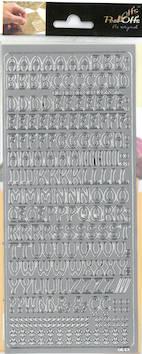 Ääriviivatarra kirjaimet - Tarrat ja tarrakirjat - 136011 - 1