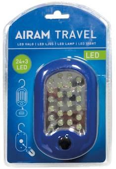 Airam travel 24+3 kirkasta lediä - Varalamput ja loisteputket - 134581 - 1