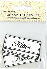 Askartelukuvio Kiitos 6kpl/pkt - Tarrat ja tarrakirjat - 150741 - 1