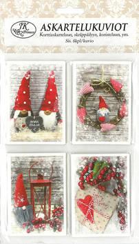 Askartelukuvio joulukuvat punainen - Askartelutarvikkeet - 153451 - 1