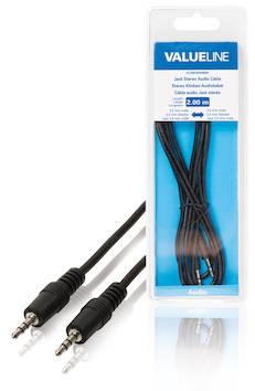 Audiokaapeli 3.5mm - 3.5mm 2m - Kaapelit ja kaapelikourut, jatkojohdot - 139131 - 1