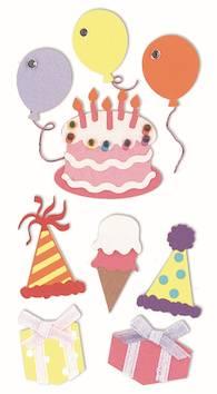 Birthday-tarra-arkki - Askartelutarvikkeet - 137301 - 1