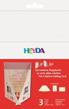 Clipclap-korttisetti b6, 3 kuorta, korttia valkoinen - Askartelutarvikkeet - 137311 - 1