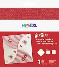 """Clipclap-korttisetti """"blume"""", 3 kuorta, korttia punainen - Askartelutarvikkeet - 137321 - 1"""