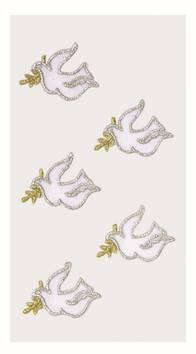 Dove/twig tekstiili tarra-arkki - Askartelutarvikkeet - 137261 - 1