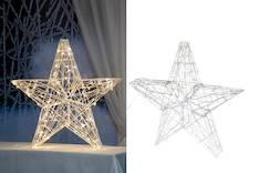 Finnlumor somistetähti  60cm 100 led - Jouluun valot,koristeet,tekstiilit - 143351 - 1