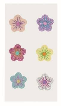 Flowers tekstiili tarra-arkki, lajitelma - Askartelutarvikkeet - 137281 - 1
