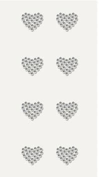Heart timantti tarra-arkki, kirkas - Askartelutarvikkeet - 137231 - 1