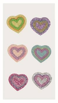 Hearts-tekstiilitarra, lajitelma - Askartelutarvikkeet - 137241 - 1