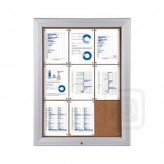 Ilmoitustaulu seinämalli 15xA4 ulkokäyt. - Esitetelineet ja tarvikkeet - 143271 - 1