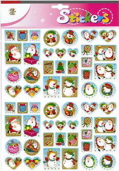 Jättitarra glitter lumiukko - Tarrat ja tarrakirjat - 148951 - 1