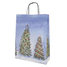 Joulukassi 24x32/9cm nyörikahvat - Lahjakassit ja -pussit - 144251 - 1