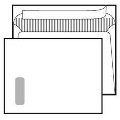 Kirjekuori E4PRIMUS SSS ikkuna tarralla - Kirjekuoret,valkoiset - 102401 - 1