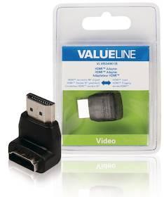 HDMI-sovitin 90° kulmalla Valueline - Kaapelit ja kaapelikourut, jatkojohdot - 146371 - 1