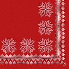 Lautasliina 40x40cm DUNI JOULU Knitting - Servietit ja lautasliinat - 131221 - 1